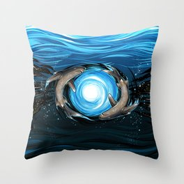 Shark Mandala Throw Pillow