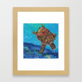 Ginger's Squirrel and Drum Framed Art Print