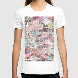 Tucson map flowers T-shirt