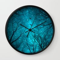 black Wall Clocks featuring Stars Can't Shine Without Darkness  by soaring anchor designs