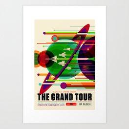NASA Space Saturn Shuttle Retro Poster Futuristic Explorer Art Print