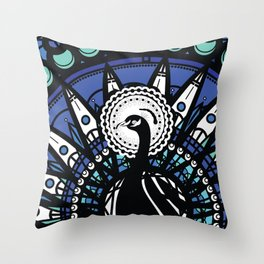 Immortal Pavo Throw Pillow