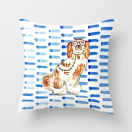 REDHEAD IN GLASSES Throw Pillow