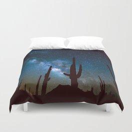 Milky Way Cacti Duvet Cover