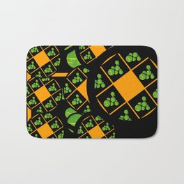 Orange and Green Spaces 100 Bath Mat