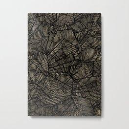 - étoile noire [blackstar] - Metal Print