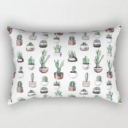Cactus + Succulents Rose Gold Pattern by Nature Magick Rectangular Pillow