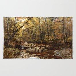 Brook in Autumn, Keene Valley, Adirondacks Rug