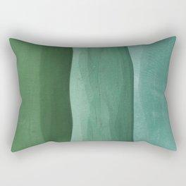 Green Gradient on Wood Rectangular Pillow