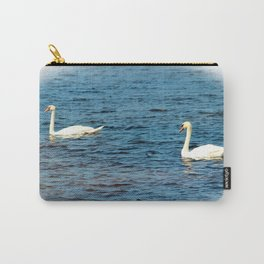 Two Mute Swans Carry-All Pouch
