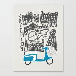 Brighton Cityscape Canvas Print