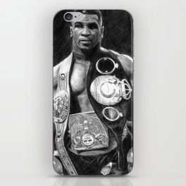 Mike Tyson Pencil Drawing iPhone Skin