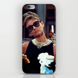 Audrey Hepburn #3 @ Breakfast at Tiffany's iPhone Skin