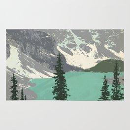 Moraine Lake Poster Rug