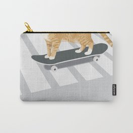 Skateboarding cat Carry-All Pouch