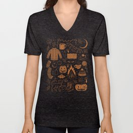 Autumn Nights: Halloween Unisex V-Neck