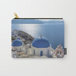 Santorini Island with churches and sea view in Greece Carry-All Pouch