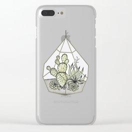 Succulent Terrarium Clear iPhone Case