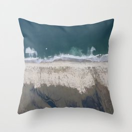 Aerial Beach Photograph: Masonboro Island | Wrightsville Beach NC Throw Pillow