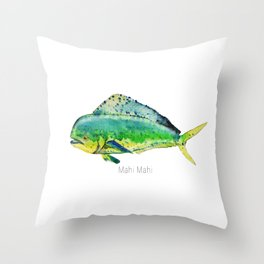 Mahi Mahi Throw Pillow