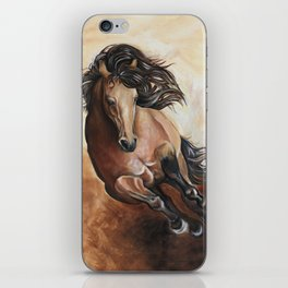 Buckskin running iPhone Skin