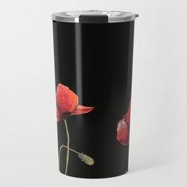 Poppies at Midnight Travel Mug