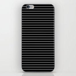 Thin White Lines - Blakc and white stripes iPhone Skin