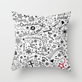 Merry Christmas Multiple languages Throw Pillow