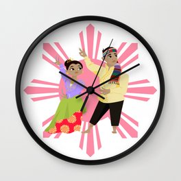 Philippines: Pangalay Dancers Wall Clock