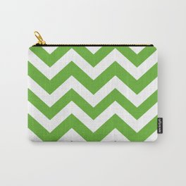 Green (RYB) - green color - Zigzag Chevron Pattern Carry-All Pouch