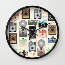 1960s Vintage Cameras Wall Clock