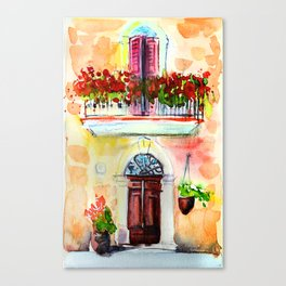 Toscany, Italy watercolor Canvas Print
