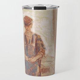 Fisherman, Isle of Shoals 1903 by Childe Hassam Travel Mug