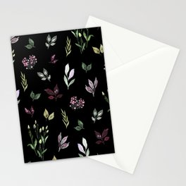 Tiny watercolor leaves pattern Stationery Cards
