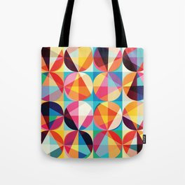 Beautiful colors Geometry, geometric abstract triangles circles squares Tote Bag