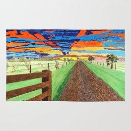 Country Sunrise in Acrylic Rug
