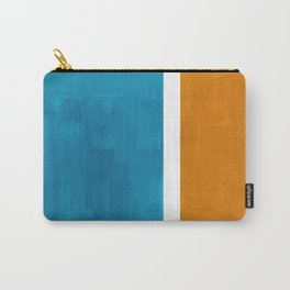 Rothko Minimalist Mid Century Modern Vintage Colorful Pop Art Colorfields Dark Teal Yellow Ochre Carry-All Pouch