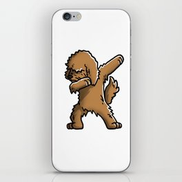 Funny Goldendoodle Dabbing iPhone Skin