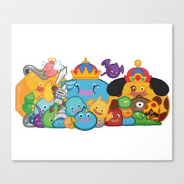 Slime Family Canvas Print