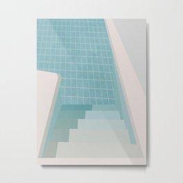 Swimming Pool Summer Metal Print