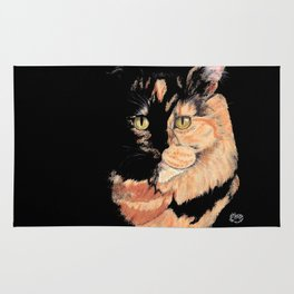 Cat in Shadow Rug