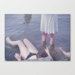 Sophie, Evie, and Maya, Loch Raven 2014 Canvas Print