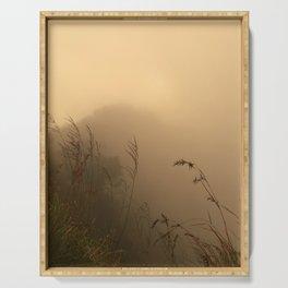 Misty Grassy Volcano Serving Tray
