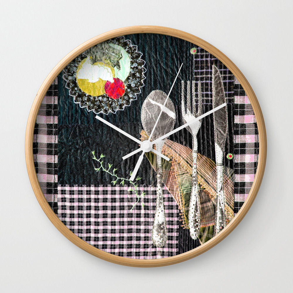 Late Night Dinner Wall Clock by Bozenawojtaszek CLK9142177