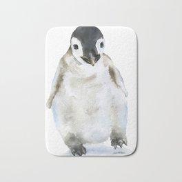 Baby Penguin Watercolor Bath Mat