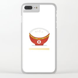 Rice Bowl Clear iPhone Case