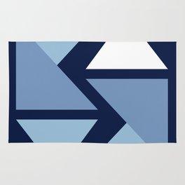 Origami Indigo Triangles Rug
