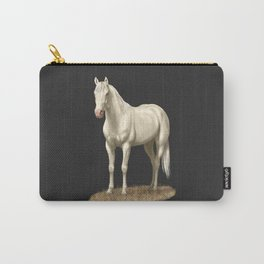 Beautiful White Cremello Horse Carry-All Pouch