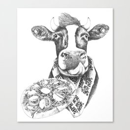 Picky Moo Canvas Print