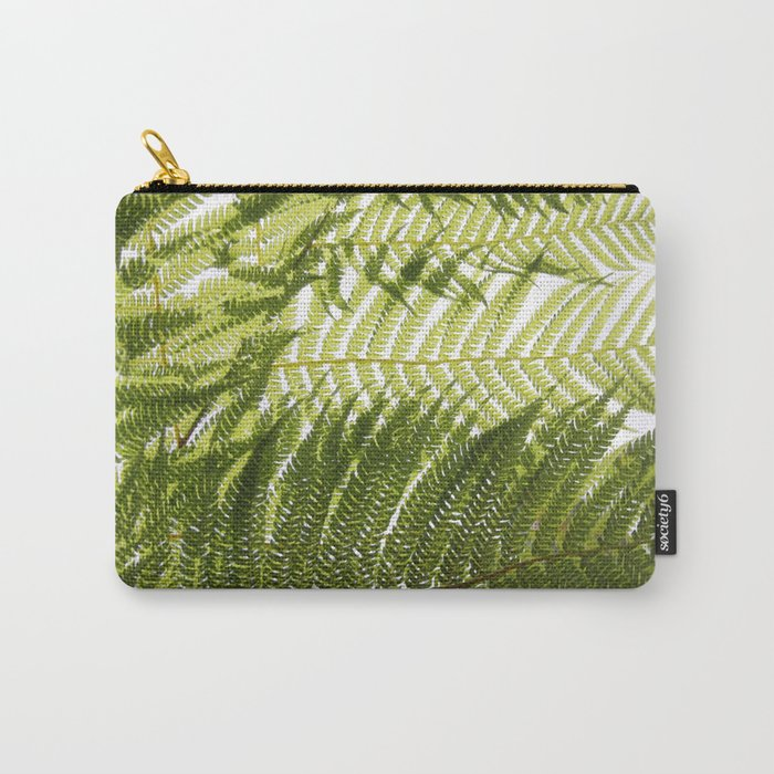 House Plant Fern Leaf Silhouette Sunlight Zen Photo Carry-All Pouch